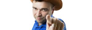 cowboy pointing at user